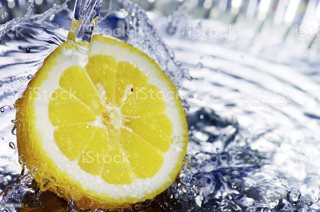 신선한 레몬 낙하 royalty-free 스톡 사진