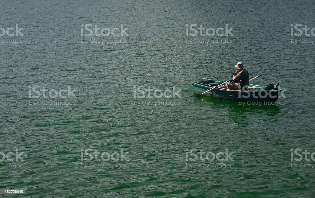 Fresh water fishing stock photo