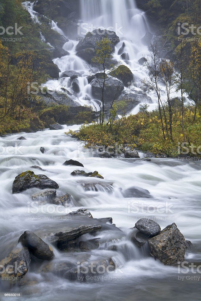 Fresh water from Norwegian mountain royalty-free stock photo