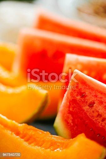 Fresh Watermelon and Honeydew Melon