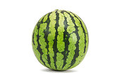 Fresh watermelon isolated on white background.