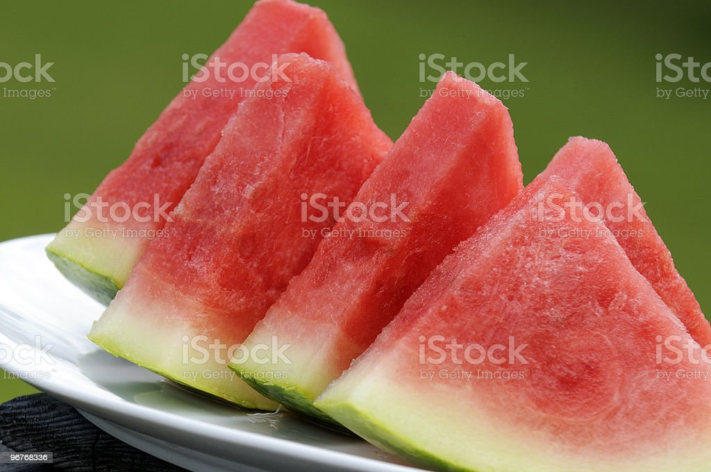 Fresh Watermelon Pieces royalty-free stock photo