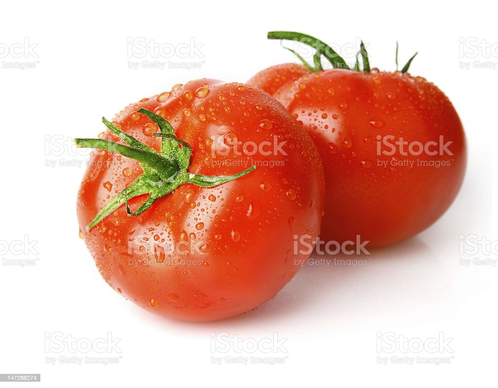 fresh wet tomato fruits royalty-free stock photo