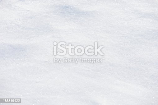 Full frame subtle background of fresh white powder snow with texture of shadows and sparkling reflected sunlight