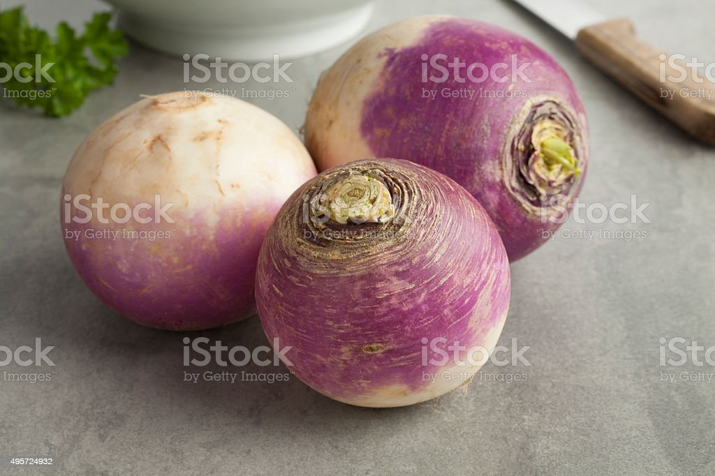 Fresh white turnips stock photo