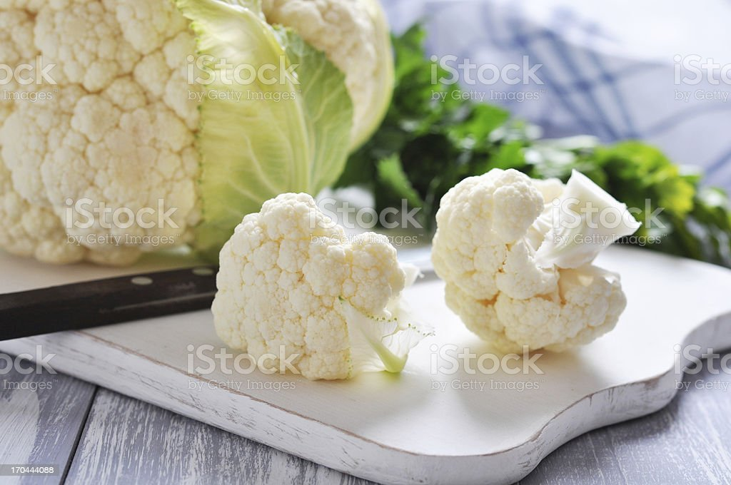 fresh whole cauliflower royalty-free stock photo