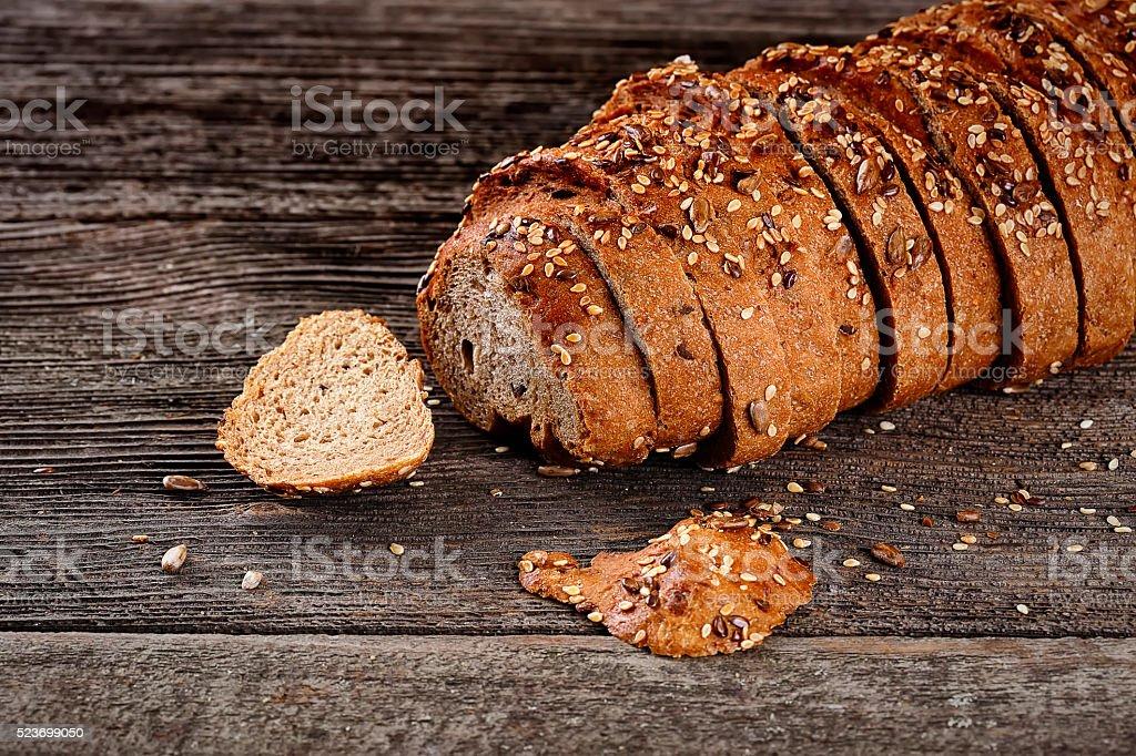 Fresh whole grain bread stock photo