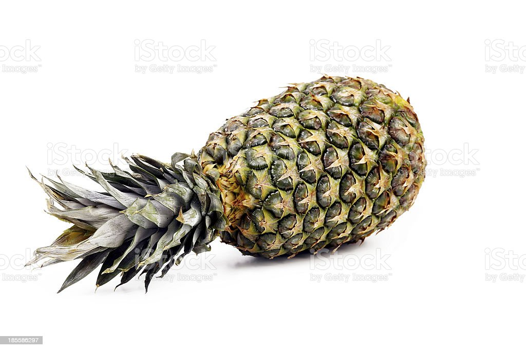 Fresh whole pineapple. royalty-free stock photo