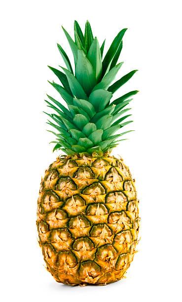 Fresh whole pineapple stock photo