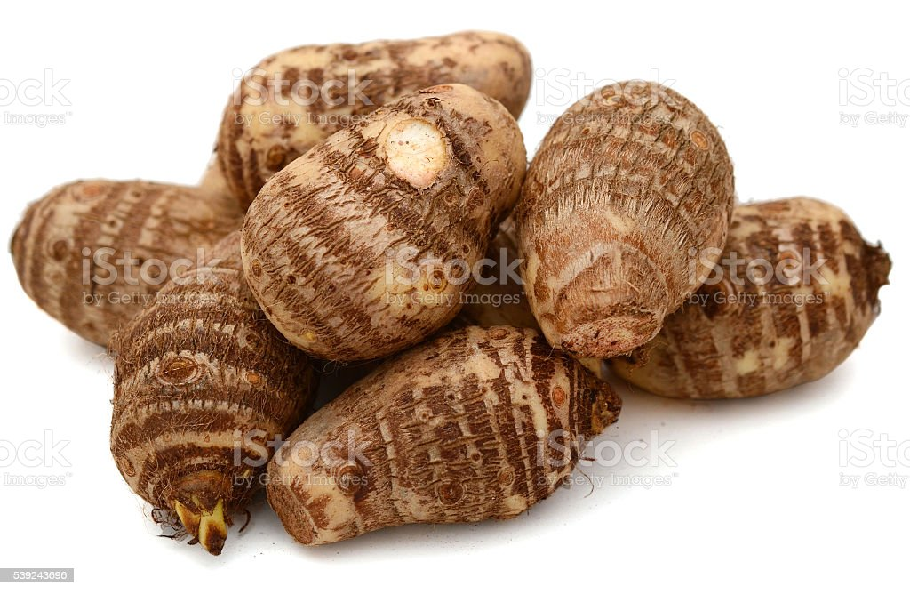 Fresh whole taro root royalty-free stock photo