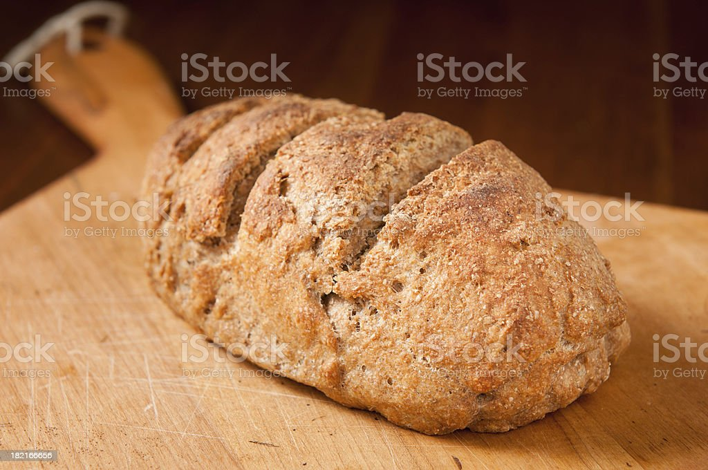 Fresh Whole Wheat Bread Loaf royalty-free stock photo