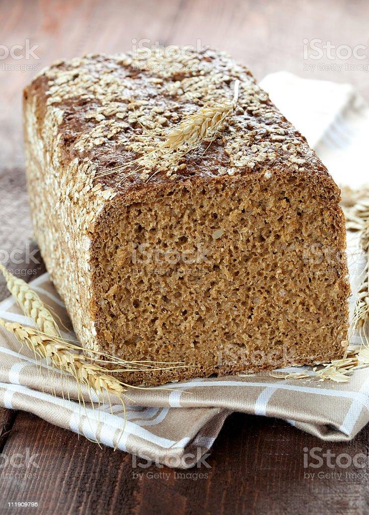 fresh wholemeal bread stock photo