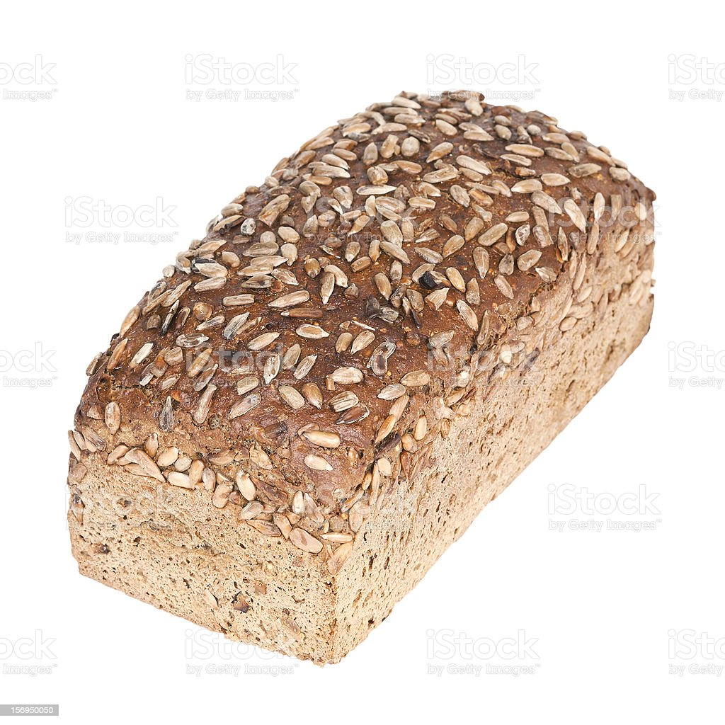 Fresh wholewheat bread with sunflower seeds stock photo