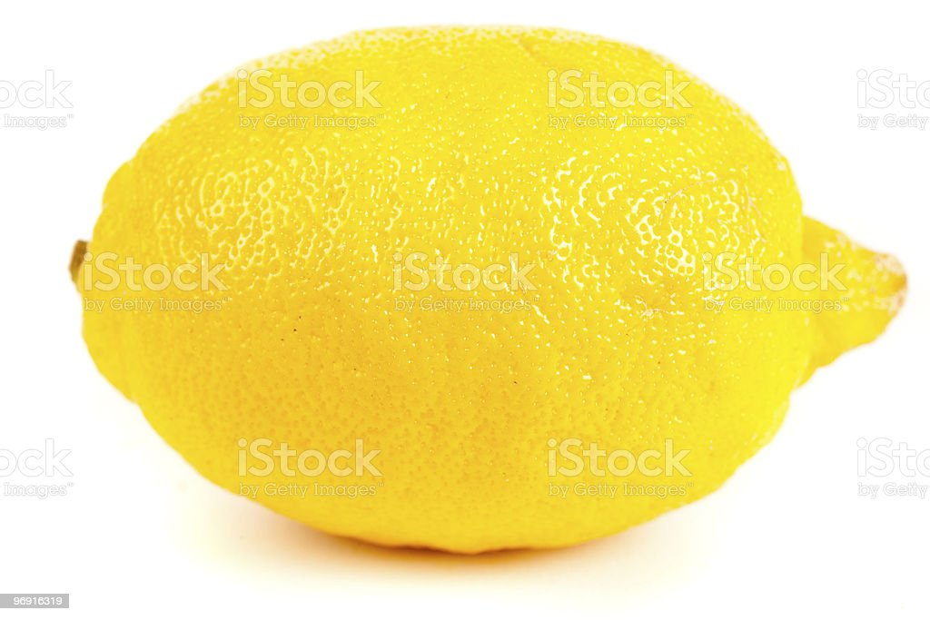 Fresh yellow lemon isolated on white royalty-free stock photo