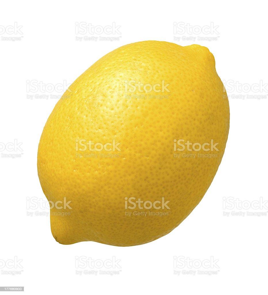 Fresh Yellow Lemon isolated royalty-free stock photo