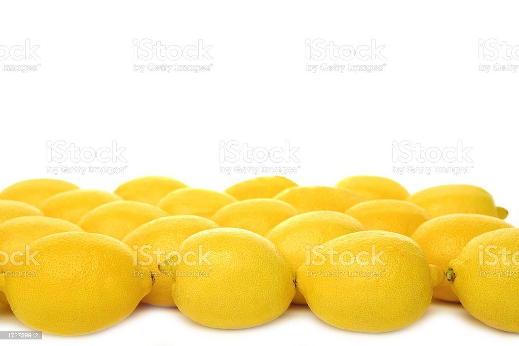 fresh yellow lemon on white background stock photo