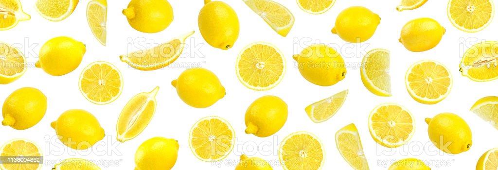 Fresh Yellow Lemon Photographic Pattern Lemon Wallpaper