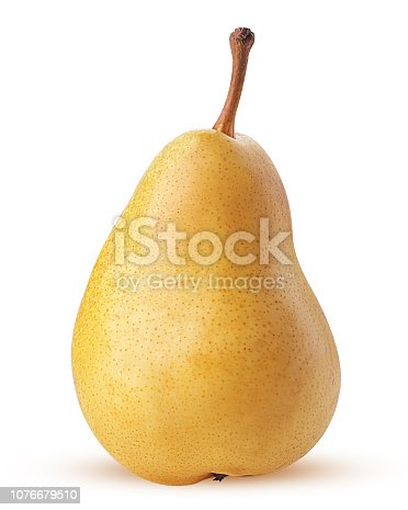 Fresh yellow pears isolated on white background. Clipping Path. Full depth of field.