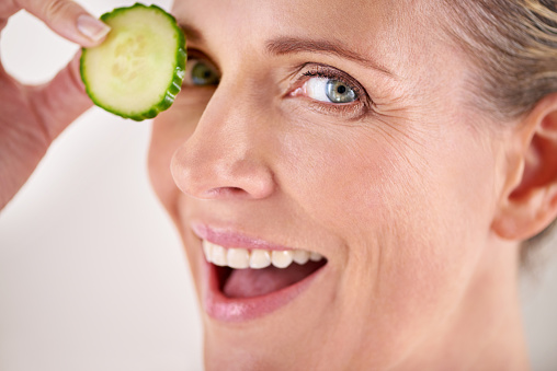 491713766 istock photo Freshen up your skin with some cucumber 491714028