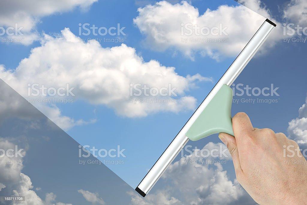 Freshening up blue sky stock photo