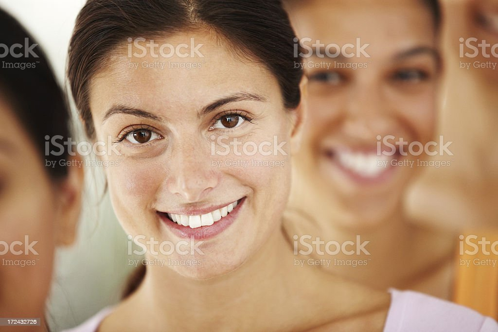 Fresh-faced after yoga class! royalty-free stock photo