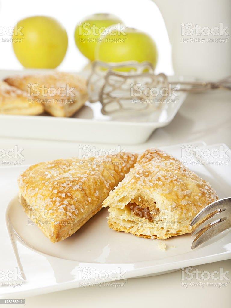 Freshly baked apple turnovers stock photo