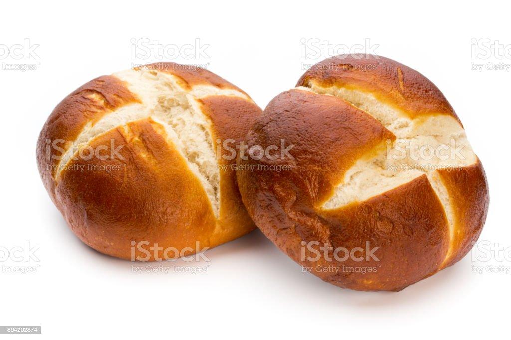 Freshly baked bread isolated on white background. royalty-free stock photo