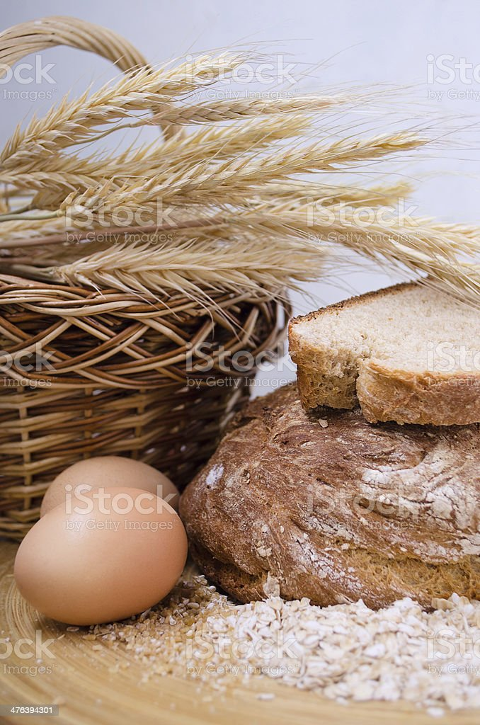 freshly baked bread royalty-free stock photo