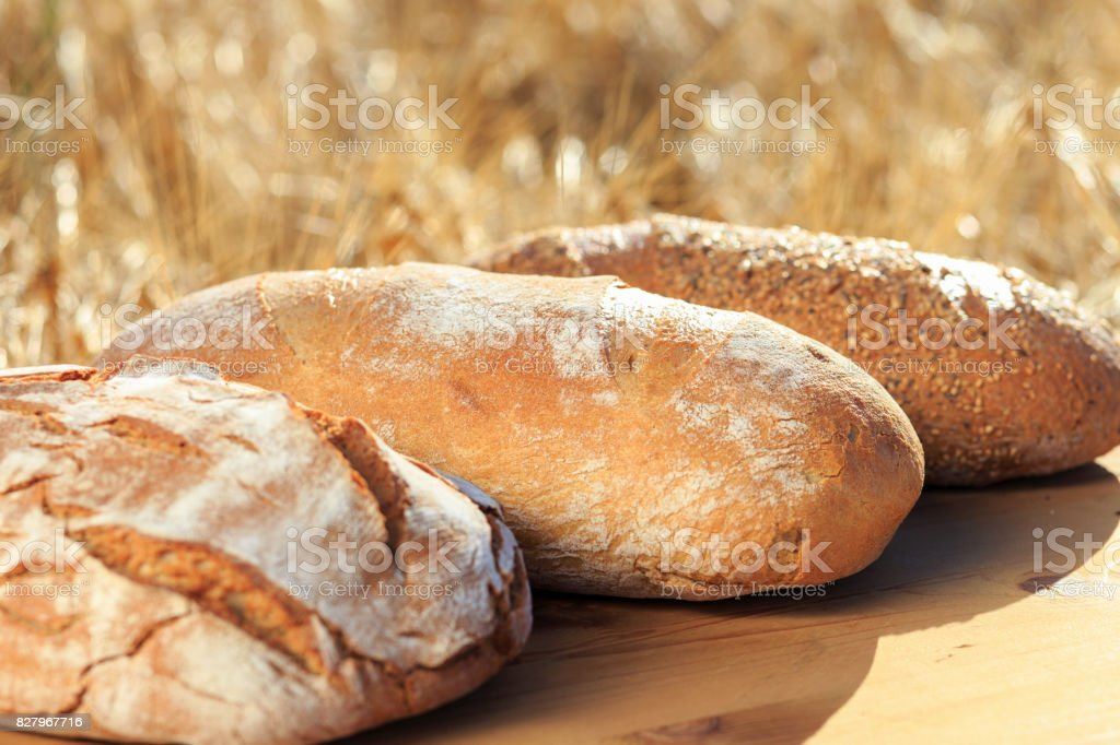 frisch gebackenes Brot stock photo