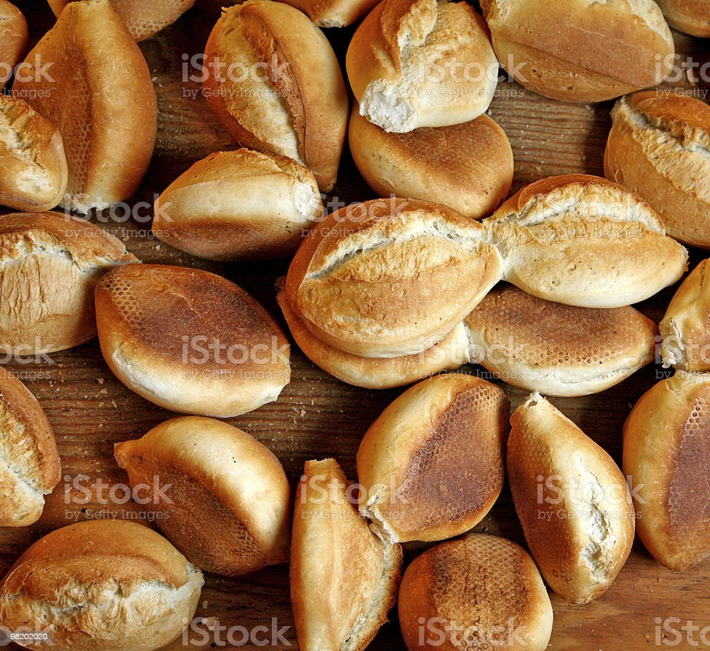 Freshly baked bread rolls royalty-free stock photo