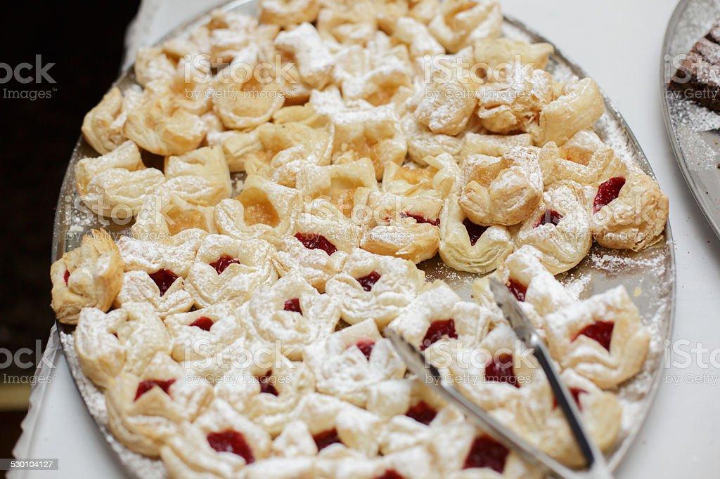 Freshly Baked Cherry Tart Dessert stock photo
