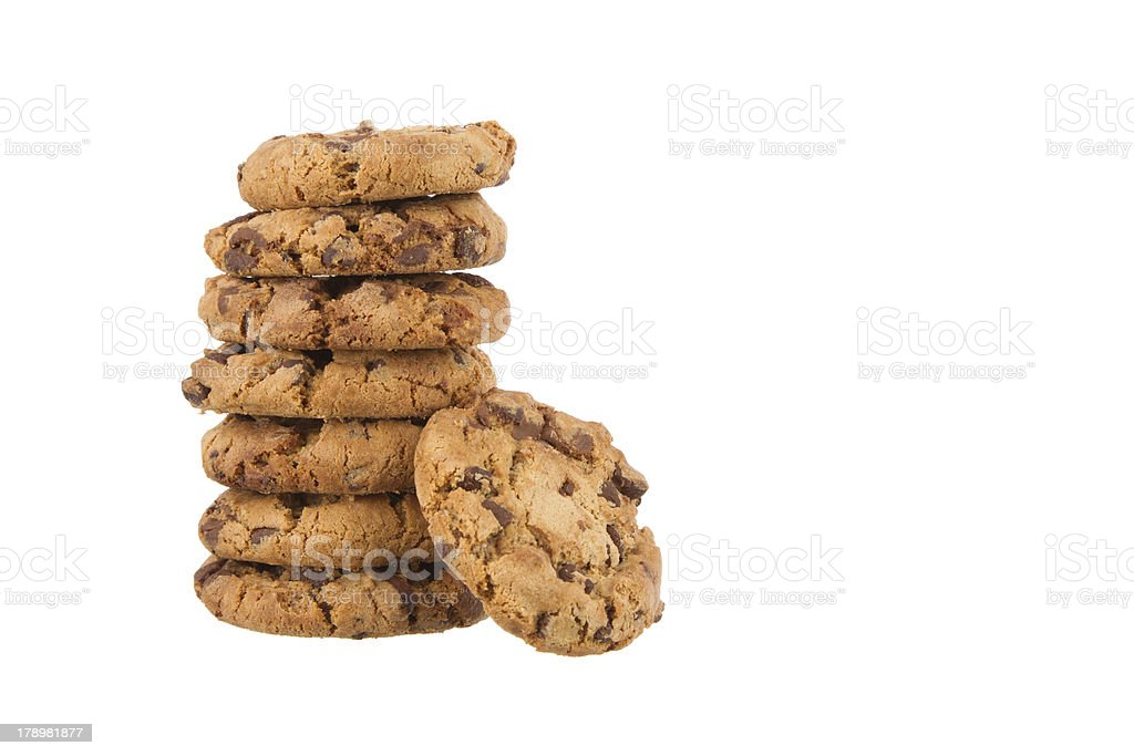 Freshly baked Chocolate Chip Cookies stock photo