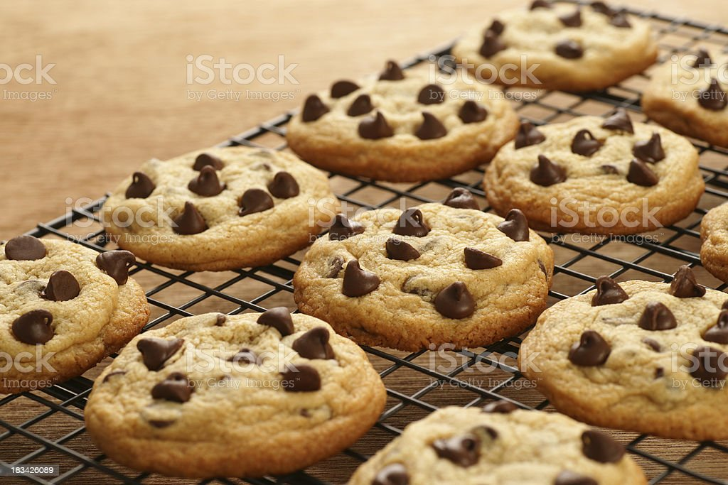 Freshly Baked Chocolate Chip Cookies royalty-free stock photo