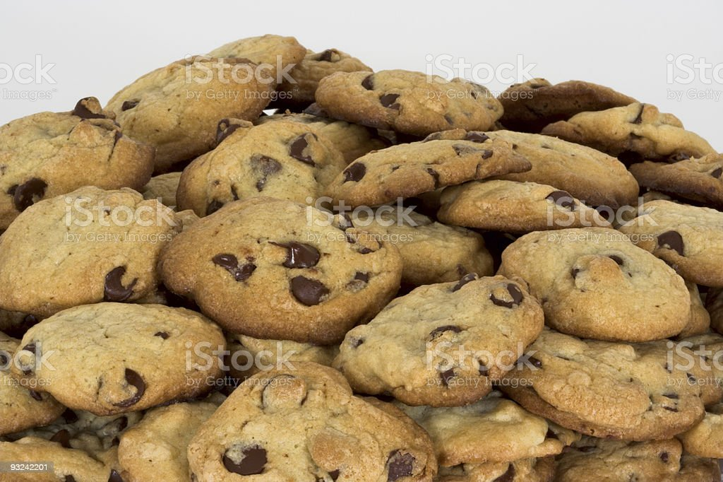 Freshly baked cookies on a white background stock photo