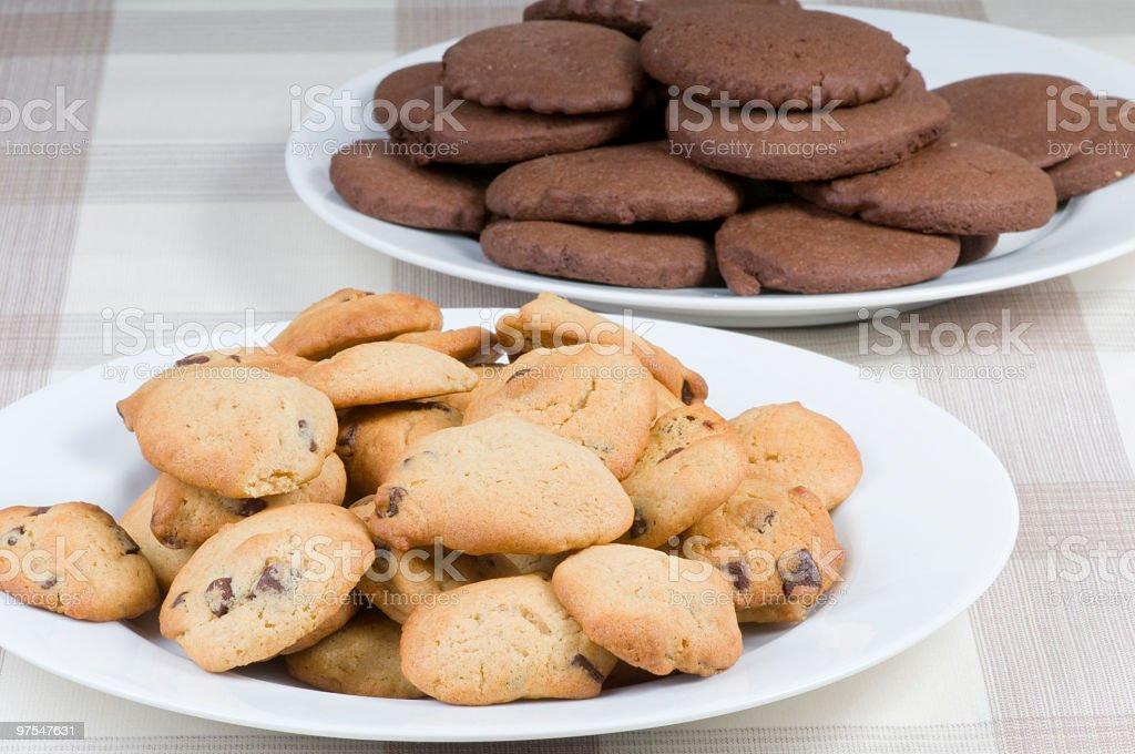 Freshly baked cookies royalty-free stock photo