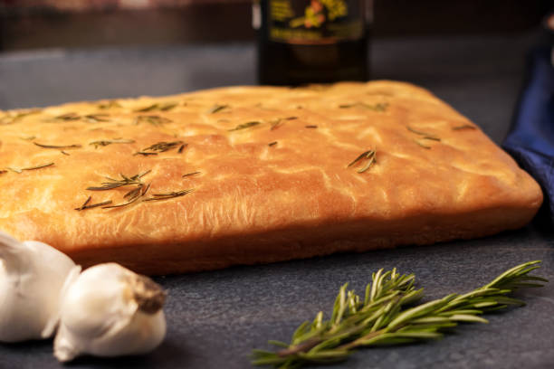 Freshly Baked Foccacia stock photo
