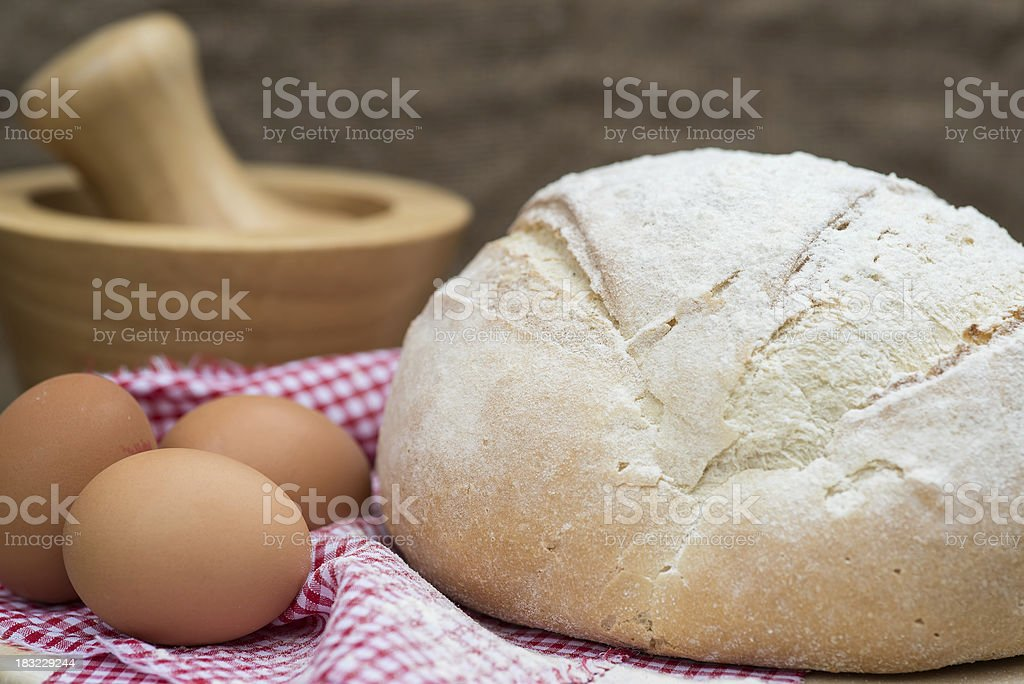 Freshly baked French pain de campagne loaf of bread royalty-free stock photo
