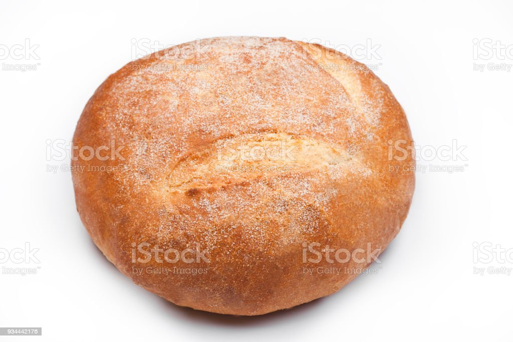 Freshly Baked Gluten Free Organic Bread On White Stock Photo