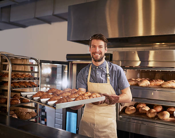 Freshly baked, just for you stock photo