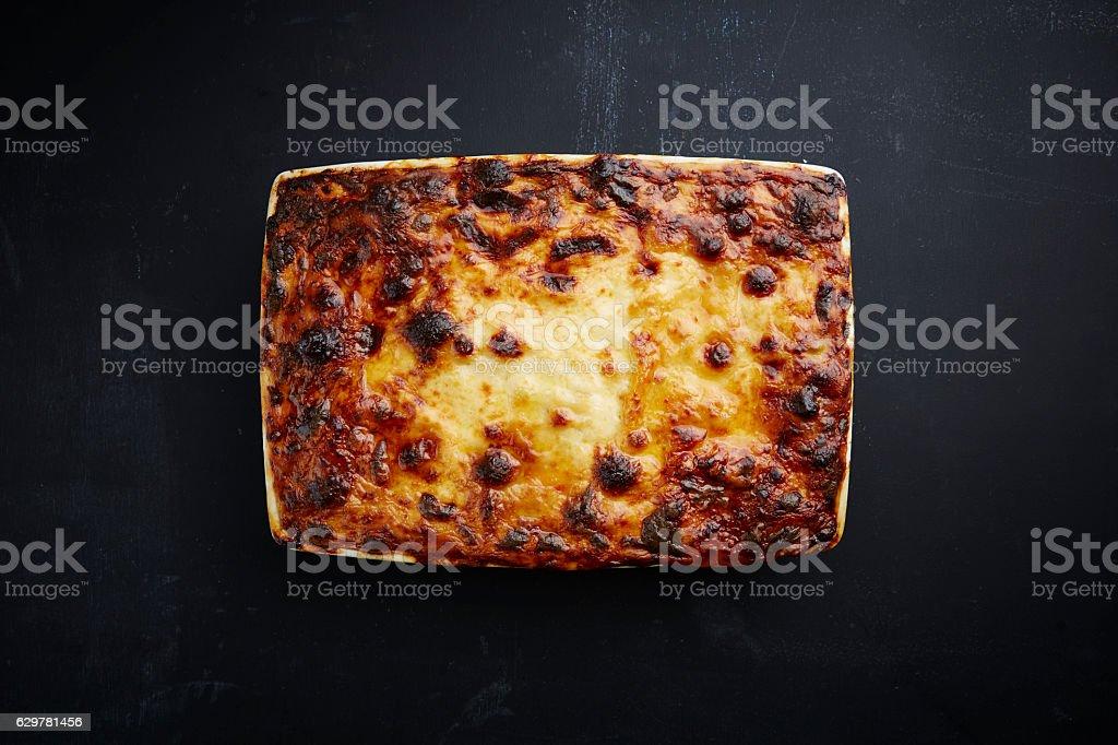Freshly Baked Lasagne stock photo