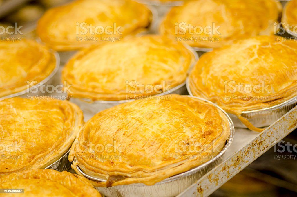 Freshly Baked Pies stock photo
