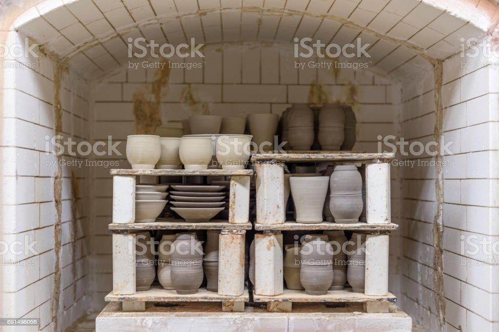Freshly Baked Pottery stock photo