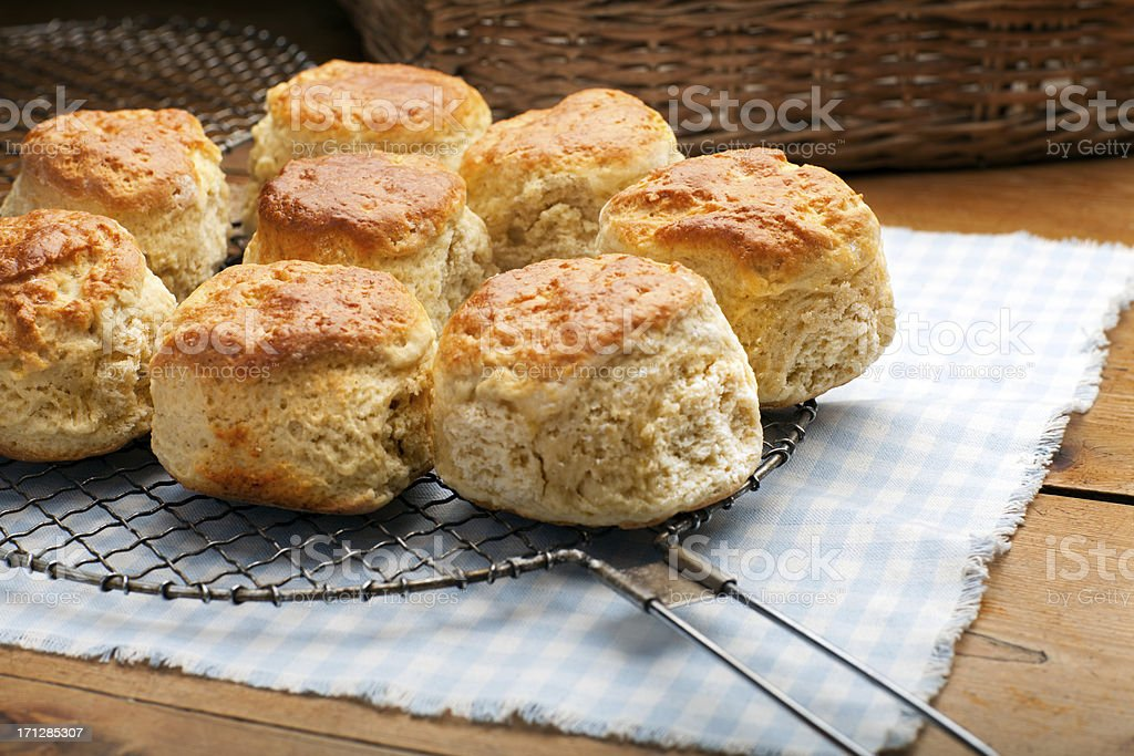 Freshly baked scones stock photo