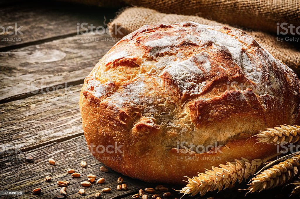Freshly baked traditional bread stock photo