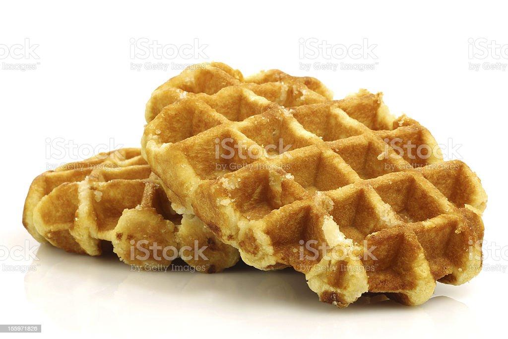 Freshly baked waffles stock photo