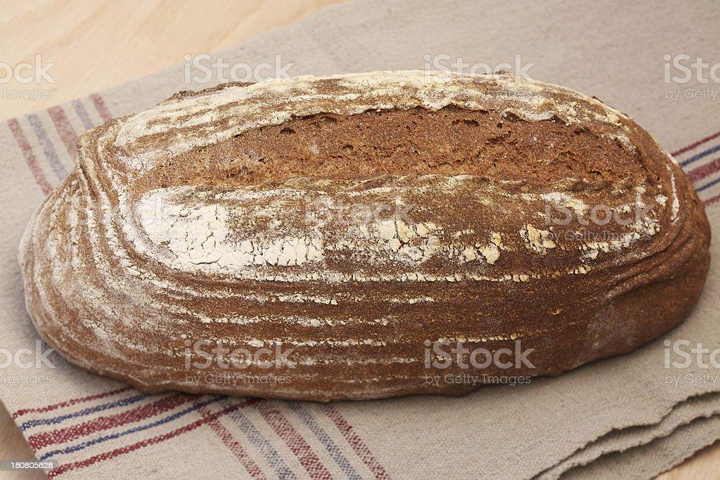 Freshly baked whole wheat bread royalty-free stock photo