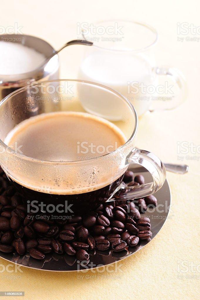 Freshly brewed coffee royalty-free stock photo