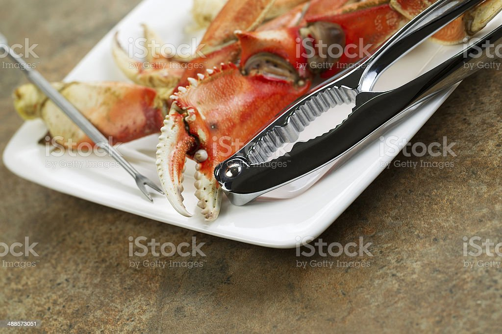 Freshly Cooked Crab stock photo