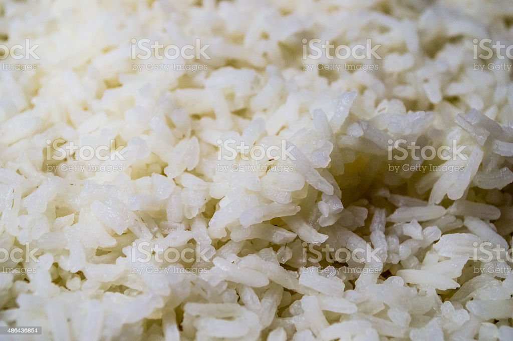 Freshly Cooked White Rice Background stock photo