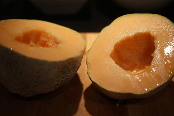 Freshly Cut Melon stock photo